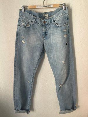 H&M Boyfriend Jeans Hellblau