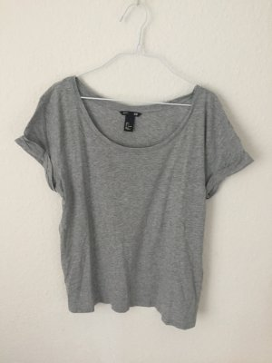 H&M Boyfriend Shirt Grau