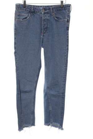 H&M Boyfriendjeans blau Jeans-Optik