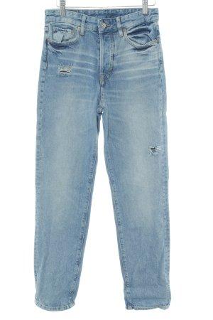 H&M Jeans boyfriend bleu clair style urbain