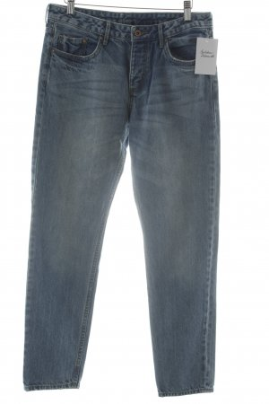 H&M Boyfriendjeans hellblau Washed-Optik