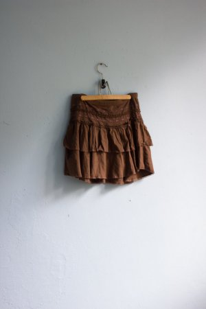 H&M brauner Rock Minirock romantisch süß