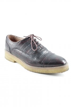 H&M Wingtip Shoes brown red-bordeaux business style
