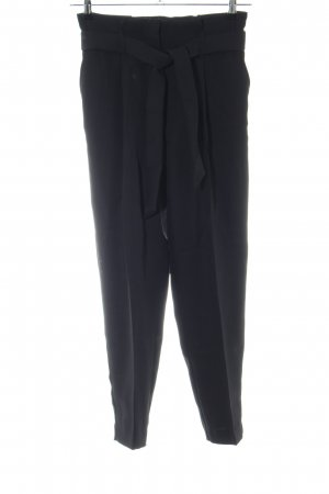 H&M Bundfaltenhose schwarz Business-Look