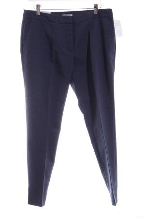 H&M Bundfaltenhose dunkelblau Business-Look