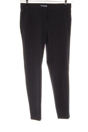 H&M Pantalón de pinza negro-blanco estampado a rayas estilo «business»