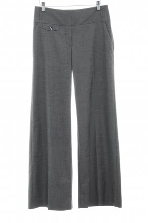 H&M Bundfaltenhose grau Karomuster Business-Look