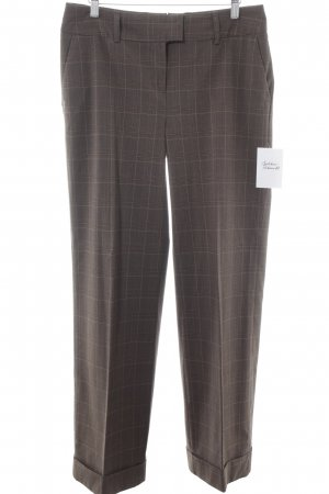 H&M Pleated Trousers grey brown check pattern business style