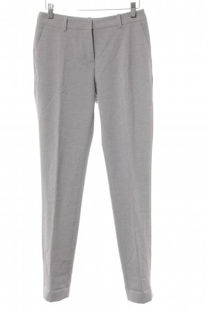 H&M Bundfaltenhose hellgrau meliert Business-Look