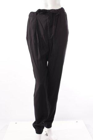 H&M Bundfaltenhose schwarz