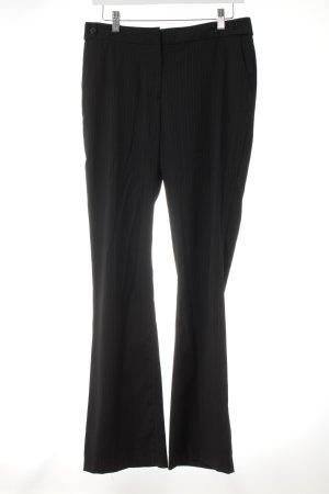H&M Bundfaltenhose schwarz-hellgrau Nadelstreifen Elegant