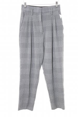 H&M Pleated Trousers black-white houndstooth pattern business style