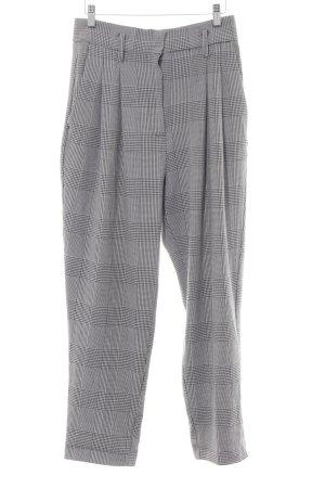 H&M Pantalon à pinces noir-blanc motif pied-de-poule style rétro