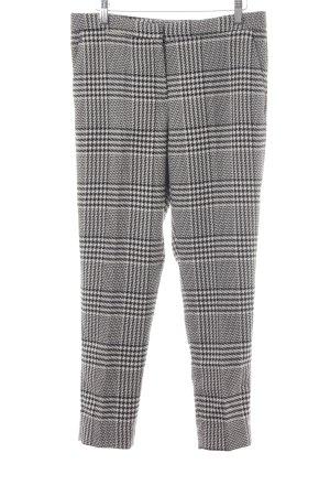 H&M Pantalon à pinces noir-blanc motif à carreau style d'affaires