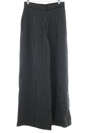 H&M Pleated Trousers black-white striped pattern casual look
