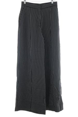H&M Pantalon à pinces noir-blanc motif rayé style décontracté