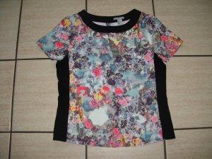 H&M buntes Blumenprint Shirt Gr. 38 / Blogger