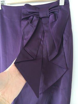 H&M Burlesque Pinup Rock Midi Pencilskirt lila mit Schleife 34