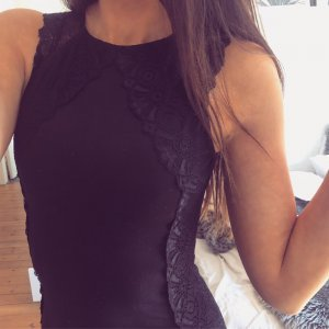 H&M Business Etuikleid Bodycon Lace Kleid Top