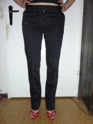 H&M Businesshose schwarz GR. 36 mit weißen Steppnähten