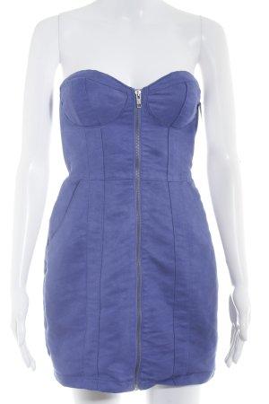 H&M Vestido bustier azul aciano estilo fiesta