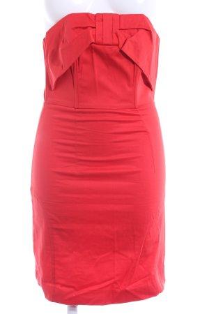 H&M Vestido bustier rojo elegante