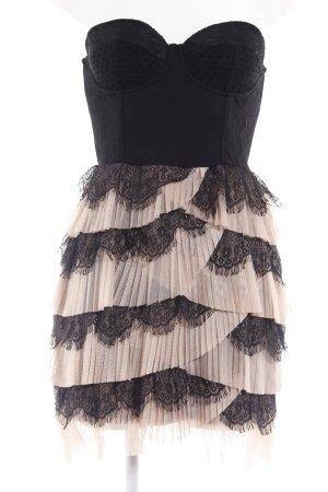 H&M Vestido bustier negro-nude estilo de lencería