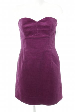 H&M Vestido bustier violeta look casual