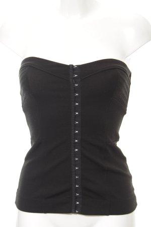 H&M Top bustino nero stampa integrale elegante