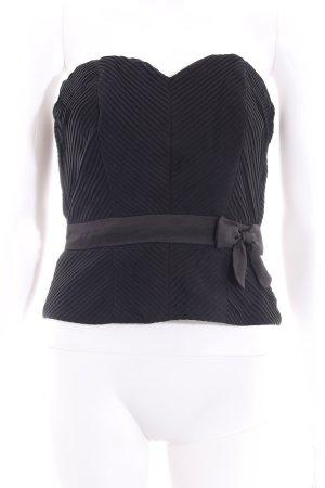H&M Bustiertop schwarz Streifenmuster Elegant