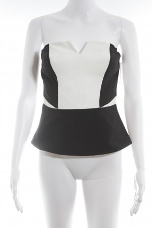 H&M Bustiertop schwarz-weiß Paris-Look