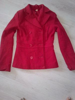 H&M Pea Jacket red cotton