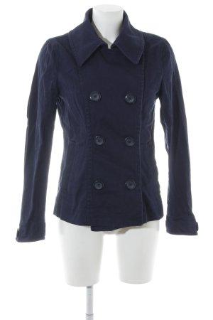 H&M Pea Jacket dark blue casual look