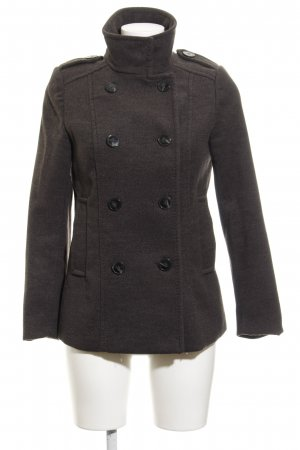 H&M Pea Jacket dark grey classic style