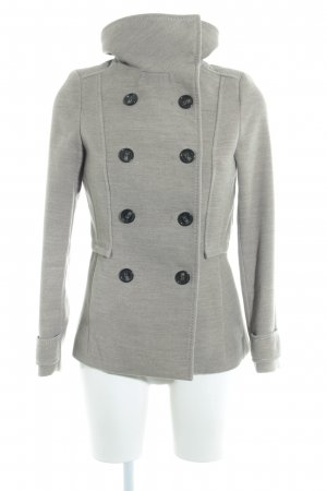 H&M Pea Jacket light grey casual look