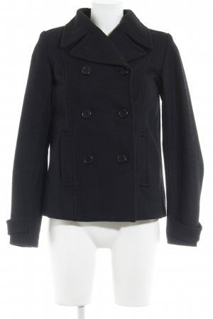 H&M Pea Jacket black casual look
