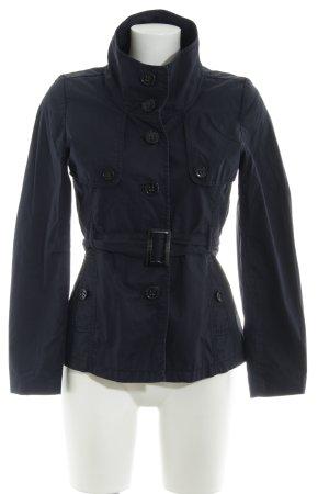 H&M Vareuse noir-bleu foncé Détail de tissus superposés
