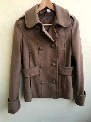 H&M Cabanjacke Übergangsjacke beige Jacke  mit doppelter Knopfreihe Größe 36