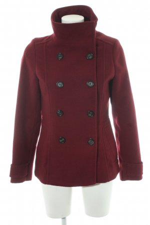 H&M Heavy Pea Coat bordeaux casual look