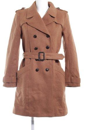 H&M Heavy Pea Coat brown classic style