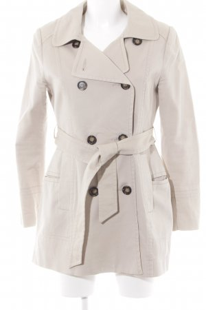 H&M Heavy Pea Coat cream casual look