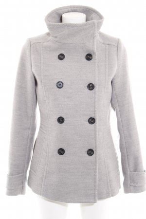 H&M Heavy Pea Coat light grey casual look