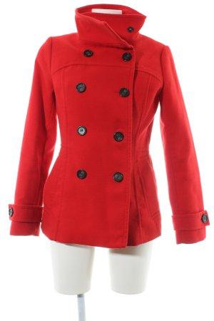 H&M Abrigo de piloto rojo estilo clásico