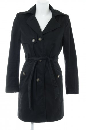 H&M Heavy Pea Coat black college style