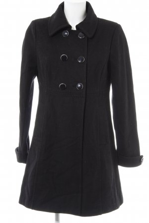 H&M Heavy Pea Coat black elegant