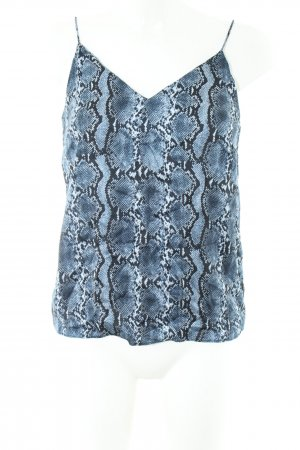 H&M Camisoles blue-black animal pattern casual look