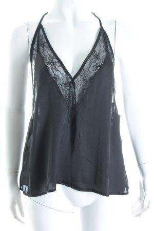 H&M Camisole schwarz klassischer Stil