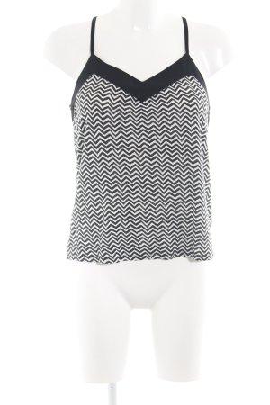H&M Camisola negro-blanco estampado gráfico look casual