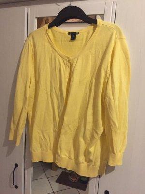 H&M Cardigan in maglia giallo pallido Cotone