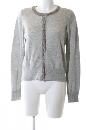 H&M Cardigan light grey flecked casual look